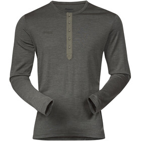 Bergans Henley Wool Langærmet T-shirt Herrer grå